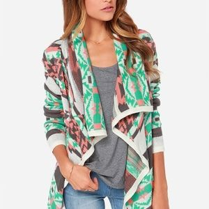 Moon Collection Aztec Sweater Cardigan